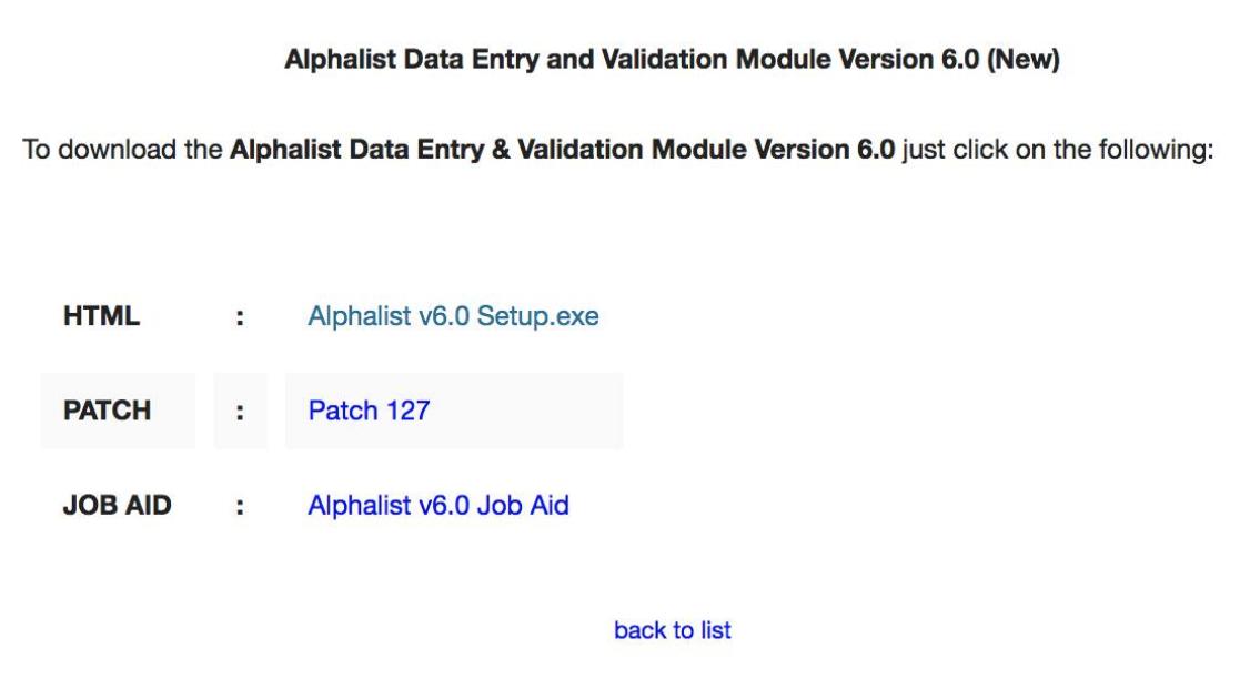 Just in: BIR Releases Alphalist Data Entry version 6 0